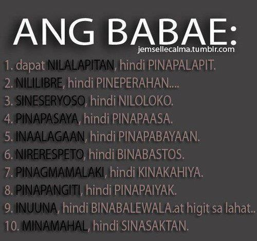Pinoy/Tagalog picture quotes - Fun-Quotes | ANG BABAE: 1.dapat ...